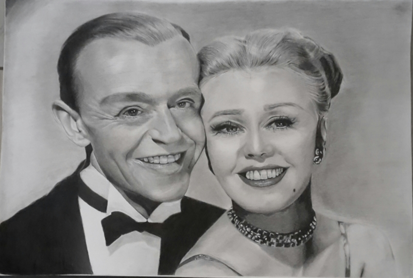 Ginger Rogers, Fred Astaire by Fema